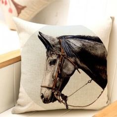 Grey Portrait- Cushion Cover