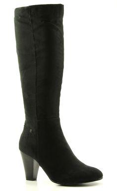 Every1 44072 zwarte hoge hakken laarzen