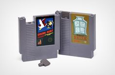 Gaming Nintendo Cartridge Flasks. Unique gift idea for a gamer.