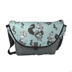 Whimsical without being childish. plus I love mermaids. Pearla Mermaid Messenger Bag by Fluff Custom Messenger Bags, Messenger Bag Men, Clutch Purse, Purse Wallet, Vintage Mermaid, Pack Your Bags, Beautiful Bags, Just In Case, Bag Accessories