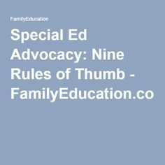 Special Ed Advocacy Nine Rules Of Thumb >> 34 Best Differentiated Instruction Images In 2018 Teaching