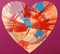 Spin Art turned into collage or cards