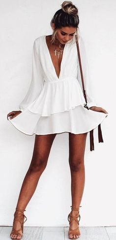 all white summer outfit. tan sandals.