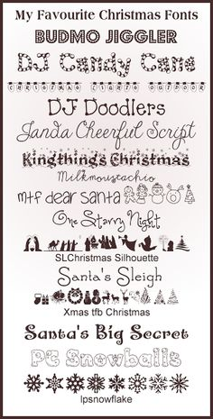 The Purple Pumpkin Blog: 15 Christmas Fonts