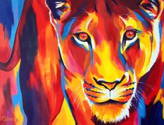 I Layer Up Colors Without Much Planning To Create These Vibrant Portraits Of Animals And People   Bored Panda