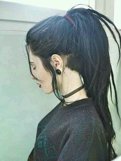 Lon black dreads with undercut. Wish I could pull it off, but black . Lon black dreads with undercut. Wish I could pull it off, but black . Lon black dreads with undercut. Wish I could pull it o. Dreads With Undercut, Short Dreads, Locs, Black Hair Undercut, Undercut Girl, Dreadlock Hairstyles, Cute Hairstyles, One Dreadlock In Hair, Wedding Hairstyles