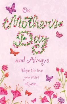 A Wonderful Mother Mother's Day Printable Cards