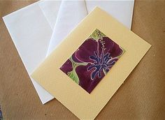 Ibiscus Greeting card with envelop by valeriatelier on Etsy, $4.50