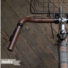 DIY Leather wrap handlebars.