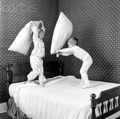 I'm glad I had kids, I can now justify jumping on the bed and pillow fights again :)