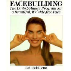 The cover may look ridiculous, but this book outlines several useful exercises that target the face muscles.