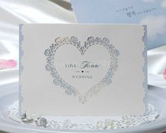 wholesale love heart laser cut wedding decoration invitation , white invitation with blue inner sheet-in Event & Party Supplies from Home & Garden on Aliexpress.com | Alibaba Group