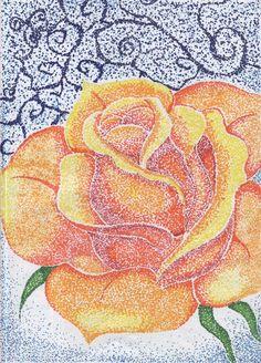 Rose -Pointillism?- by roses-are-evil.deviantart.com