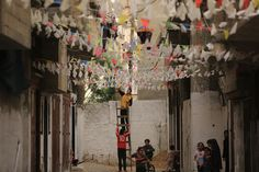 Ramadan is underway in the tightly packed Gaza Strip. Officials have eased some restrictions on social distancing allowing Palestinians a reprieve from isolation. Night Prayer, Gaza Strip, East Street, April 25, Ramadan, Middle East, Southern