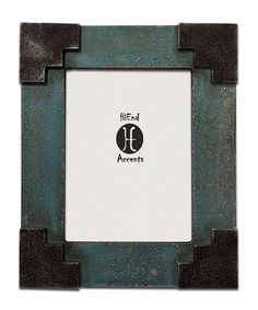 HiEnd Accents Santa Fe Corner Frame, 6 by 8-Inch, Turquoise >>> More info could be found at the image url-affiliate link. #PictureFrames