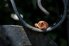 Swirl Copper Wire Wrap Ring Size US 6.5 Copper Ring Size 6.5 Ring Copper Jewelry Wire Wrap Ring Wire Wrap Jewelry Copper Bazaars R Us handmade USA