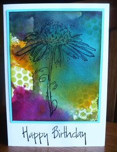 stamping rika: ecoline with Darkroom Door Fine Flowers Rubber Stamps