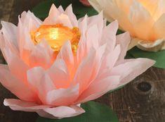 DIY faroles en forma de flor
