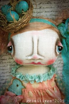 Sweet Baby Art Doll Biddy Bird by GRIMITIVES on Etsy