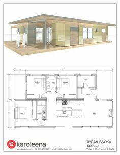 Have an eat-in island and put in more cabinets and dishwasher Building Plans, Building A House, Small House Plans, House Floor Plans, Modular Home Floor Plans, Modern House Plans, Modern House Design, Container House Plans, Building A Container Home