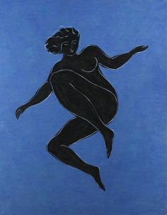 Black Venus on Blue Background, Pierre Boncampain