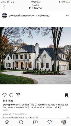 41 Ideas Exterior House Design Dream Homes Mansions For 2019 Dream House Exterior, Exterior Houses, House Exteriors, House Goals, My Dream Home, Dream Homes, Home Fashion, Design Case, Exterior Design