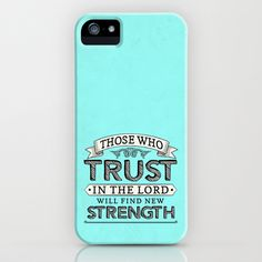 Isaiah 40:3 Trust & Strength iPhone & iPod Case by Pocket Fuel - $35.00