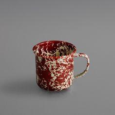 Marbled enamel mug
