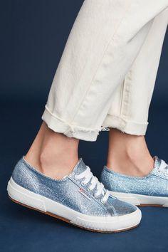 Slide View: 1: Superga Metallic Sneakers