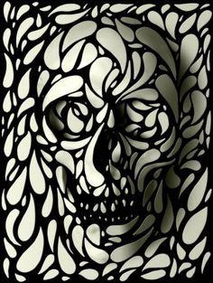 Skull 4 Ready To Hang Wood Print, 35 x 50 cm X Black And White Sugar Skull Art Wooden Home Decor, Pattern Skull Wall Art - My Sugar Skulls Skull Rug, Skull Wall Art, Skull Print, Skulls, Skull Pillow, Skull Decor, Skull Face, Digital Art Illustration, Skull Illustration