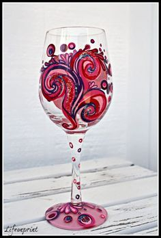 Enter to #win a hand painted Razzmatazz Design wine glass Designs by Lolita!! Ends 10/13