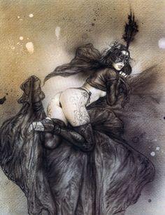 Kuckettenfrauen Riesiges schwarzes Bild