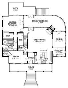 The Bermuda Bluff Cottage House Plan Design from Allison Ramsey Architects Beach House Floor Plans, Lake House Plans, Cottage Floor Plans, Ranch House Plans, Craftsman House Plans, Country House Plans, Dream House Plans, Modern House Plans, Small House Plans