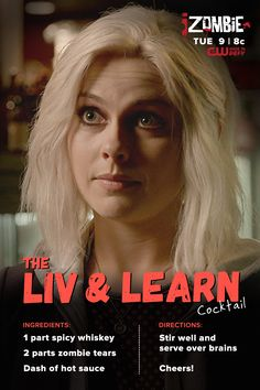 Full of emotions after watching iZombie I Zombie, Rose Mciver, Aly Michalka, Anita Blake, Cocktail Ingredients, Bad Life, Geek Things, Newest Tv Shows, Life Choices
