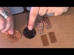 Vintaj Patina De-bossed Patterns: Quick Tip! In this quick tip Jess shows how to add patina to the reverse side of an embossed blank! Jewelry Tools, Copper Jewelry, Jewelry Crafts, Wire Jewelry, Metal Embossing, Metal Stamping, Diy Jewelry Inspiration, Jewelry Making Tutorials, Stamped Jewelry
