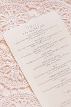 tea menu - I can't help but be slightly bothered by this menu referring to Madagascar or Malagasy Vanilla as Madagascan...