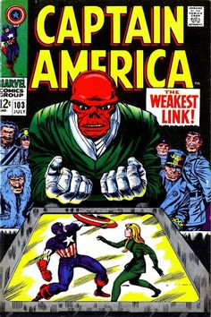 Captain America #103 (Jul '68) cover by Jack Kirby & Syd Shores.