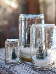 Homemade snowglobes
