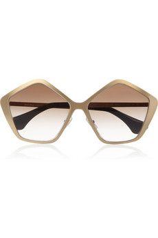 Miu MiuPentagon-frame metal sunglasses