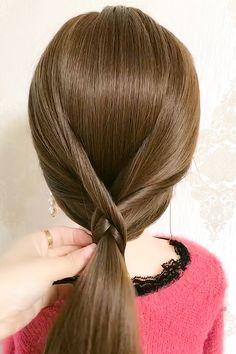Hairstyles Videos, Braided Hairstyles Tutorials, Twist Hairstyles, Hair Videos, Long Hair Ponytail, Easy Hairstyles For Long Hair, Hair Up Styles, Hair Sketch, Aesthetic Hair