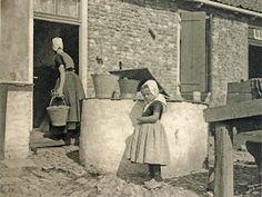 Zoutelande, Zeeland (Holland), ca 1920.    Photographer: Bern. F. Eilers (Dutch art-photographer) -vintage photogravure