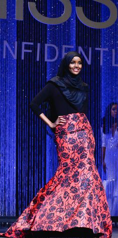 """Halima Aden is a 19-year-old Muslim from St. Cloud, Minn., """" Aden's family is originally from Somalia. She was born in the Kenyan refugee and came to the U.S. when she was 6. No one in the Minnesota contest had competed in a burkini and a hijab."""