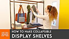My friend Alex needed some collapsible shelves to display her goods at craft shows. Come see how we made her a set of display shelves.