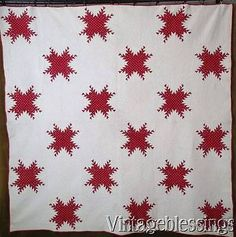 Antique and Vintage QUILTS make incredible gifts. They are handmade and one of a kind, sure to become a family heirloom to be passed down thru the generations. Old Quilts, Antique Quilts, Star Quilts, Vintage Quilts, Two Color Quilts, Red And White Quilts, Civil War Quilts, Incredible Gifts, Quilts For Sale