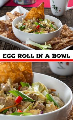 Are you someone who always adds egg rolls to your Chinese takeout order? Egg Roll in a Bowl has everything you love about egg rolls, without all the work. Healthy Ground Beef, Ground Beef Recipes For Dinner, Fun Easy Recipes, Asian Recipes, Healthy Recipes, Slow Cooker Ground Beef, Beef Casserole Recipes, Food Test, Skillets