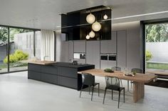 42 Contemporary Kitchen Table To Update Your Home - Interior Design Fans Contemporary Kitchen Island, Modern Kitchen Design, Interior Design Kitchen, Design Bathroom, Modern Contemporary, Contemporary Chairs, Kitchen Designs, Kitchen Island Dining Table, Modern Dining Table