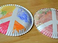 Paper Plate Peace Sign