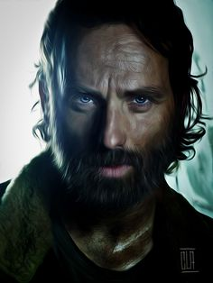 The Walking Dead Fan Art:Rick Grimes by Claudio Vitiello.