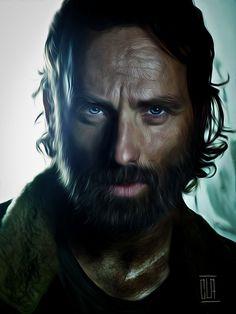 The Walking Dead Fan Art:Rick Grimes by Claudio Vitiello.