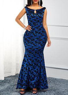 Keyhole Neckline Zipper Back Sleeveless Maxi Dress Club Party Dresses, Casual Dresses, Formal Dresses, Neckline, Chic, Zipper, Shopping, Fashion, Stylish Dresses